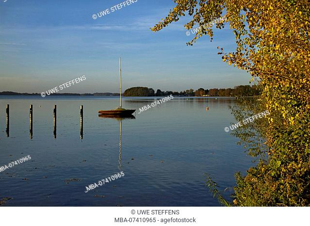 Autumn evening at Lake Plön near Bosau
