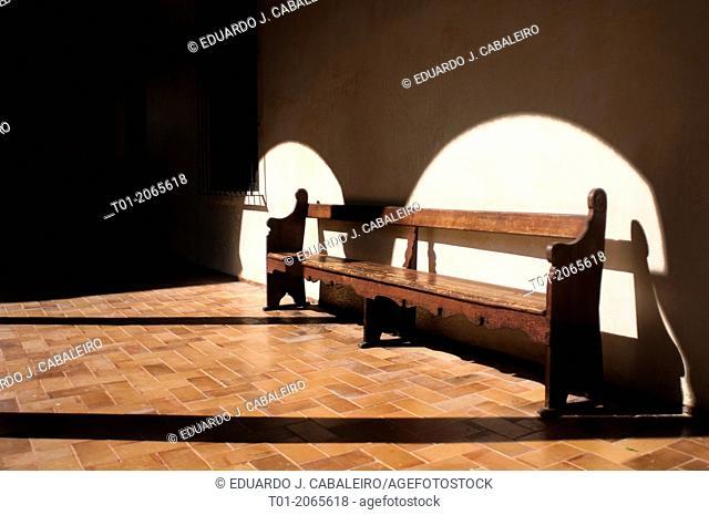 Bench, Alcazar of Seville. Andalucia. Spain