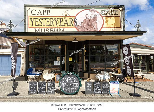 New Zealand, South Island, Southland, Tuatapere, Cafe Yesteryears Museum, exterior