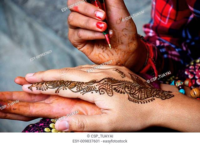 Mehndi or Henna india style