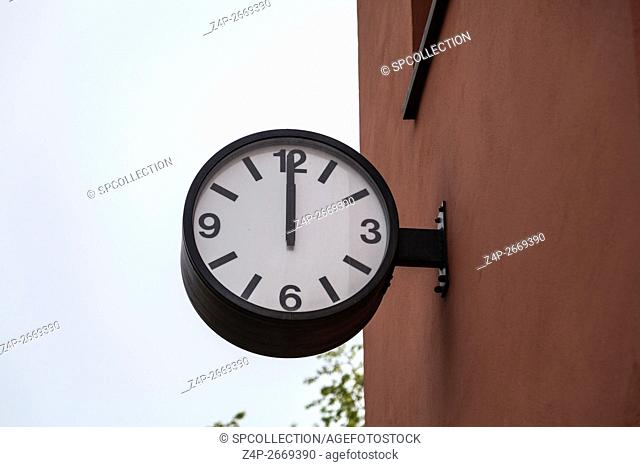 Clock at old Water Tower in Berlin Friedrichshain