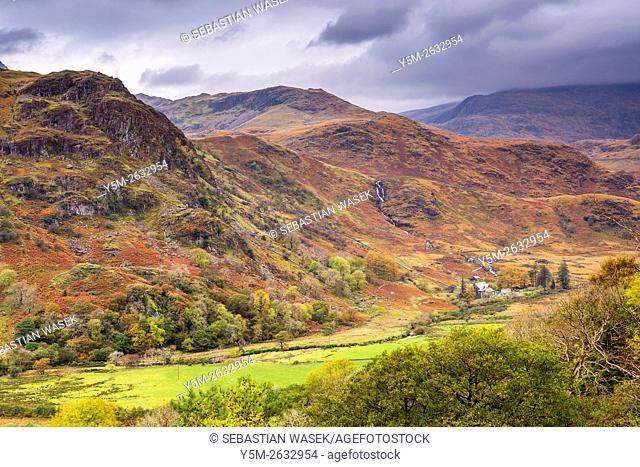Nant Gwynant valley, Snowdonia National Park, Gwynedd, Wales, UK, Europe