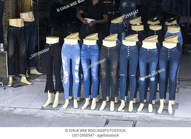 Some jeans display Hatyai, Thailand