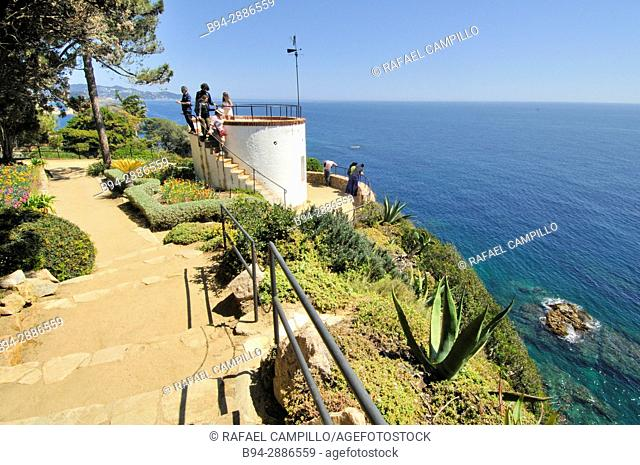 View from Jardí Botànic Marimurtra, botanical gardens, Blanes, La Selva, Costa Brava, Girona. Catalonia, Spain