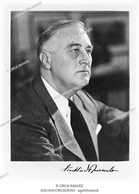 U.S. President Franklin Roosevelt, Head and Shoulders Portrait, Harris & Ewing, 1941