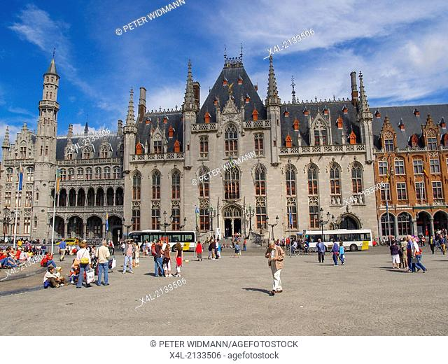 palace building on the square in the centre, Belgium, Bruegge