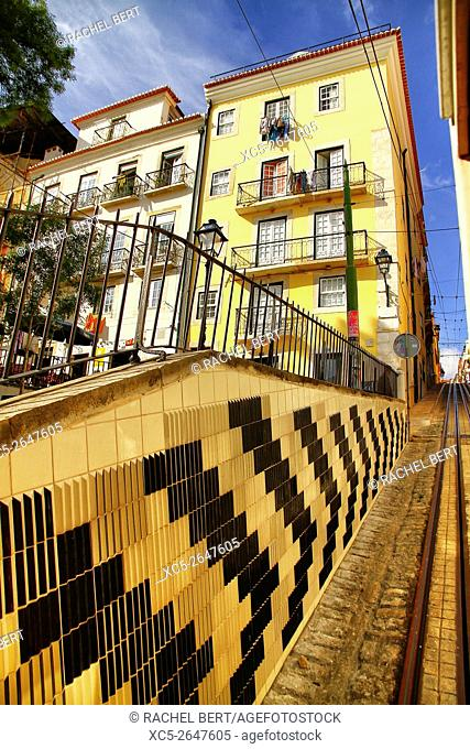 The Lavra Funicular, Lisbon, Portugal, Europe