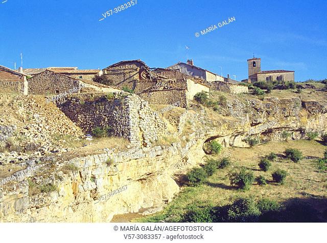 Overview. Caracena, Soria province, Castilla Leon, Spain