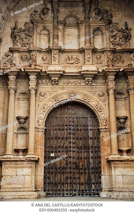 Santa Maria church  Sixteenth century  Alarcon village in Cuenca province  Spain
