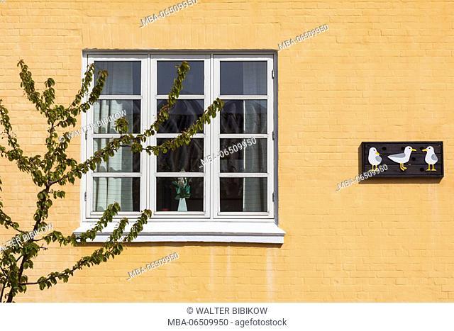Denmark, Jutland, Skagen, building with duck art