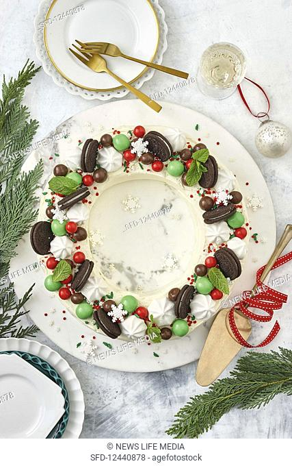 Easy choc ripple wreath