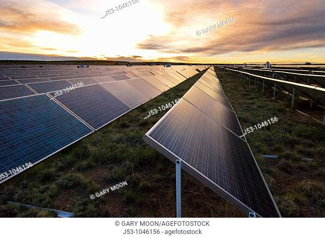 Solar photovoltaic electricity generating plant, Springerville, Arizona