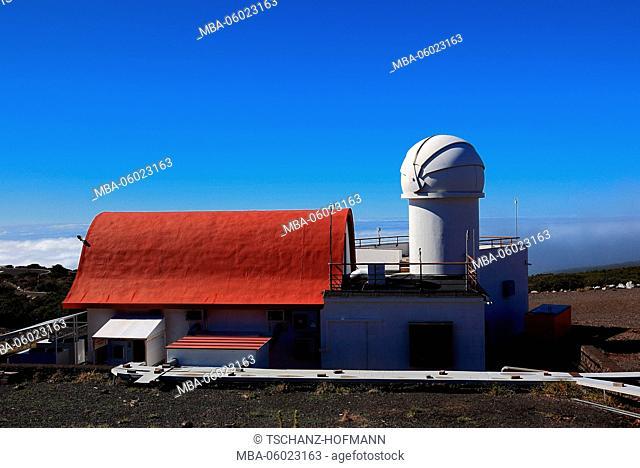La Palma, Canary island, Roque de los Muchachos Observatory in the National Park Caldera de Taburiente, Astrophysics Observatory La Palma, Telescope