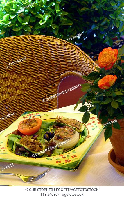 a dish of vegetable appetizer