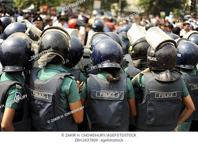 DHAKA, BANGLADESH - MARCH 29 : Hundreds of students from several institutions took to the streets in protest of the rape and murder of Sohagi Jahan Tonu