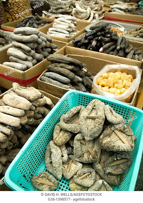 Dried fruit for sale in a market in Ho Chi Minh City, Vietnam