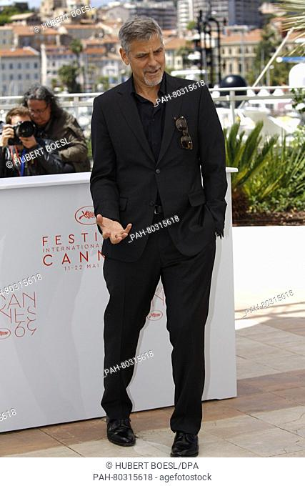 Actor George Clooney attends the photocall of Money Monster during the 69th Annual Cannes Film Festival at Palais des Festivals in Cannes, France