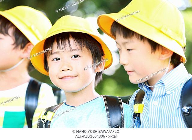 Japanese kid looking at camera