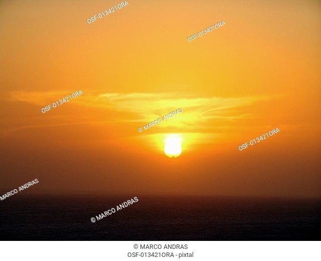 sunset light falling into ceara beach