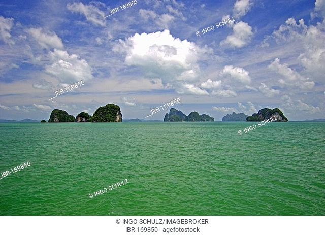 Rocks in the sea in Phang nga, thailand