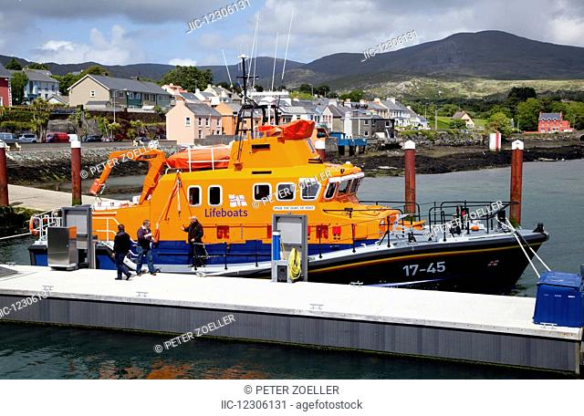 A colourful boat moored at the dock; Castletownbere, County Cork, Ireland
