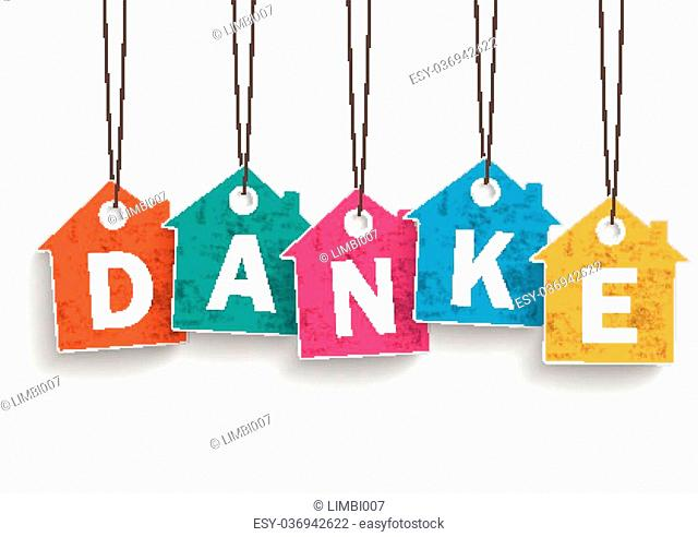 "German text """"Danke"""", translate """"thanks"""""