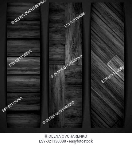 Wooden grey banner