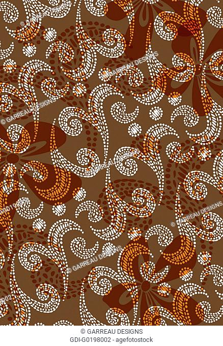 Flower and swirl spot design