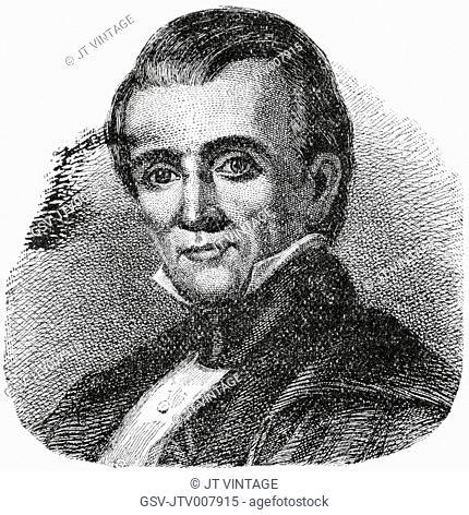 James K. Polk (1795-1849), 11th President of the United States, Engraving, 1889