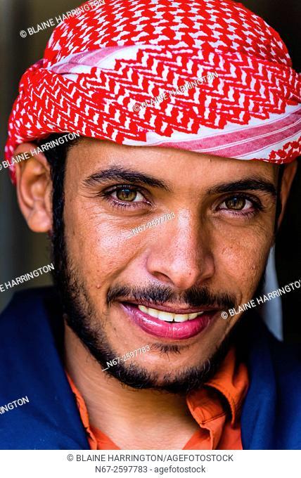 Bedouin man, Dana Biosphere Reserve, Wadi Feynan, Jordan