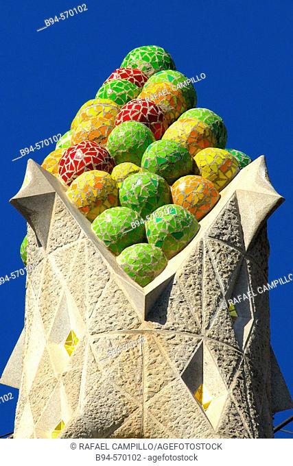 Pinnacles. Sagrada Familia, by Gaudí. Barcelona. Spain