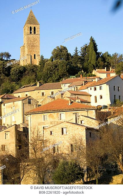 the village of Olargues,Languedoc, southern France
