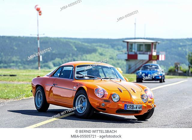 Michelstadt, Hesse, Germany, Renault Alpine A110 1300 S, orange, built in 1969, 105 hp, engine capacity 1296ccm with Gordini engine