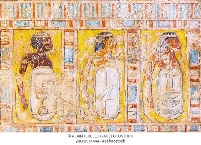 UNESCO World Heritage, Thebes in Egypt, Assassif (part of the Valley of the Nobles), tomb of Kheruef, West portico, North wing