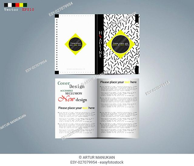 Business design of the brochure, the image of the for business