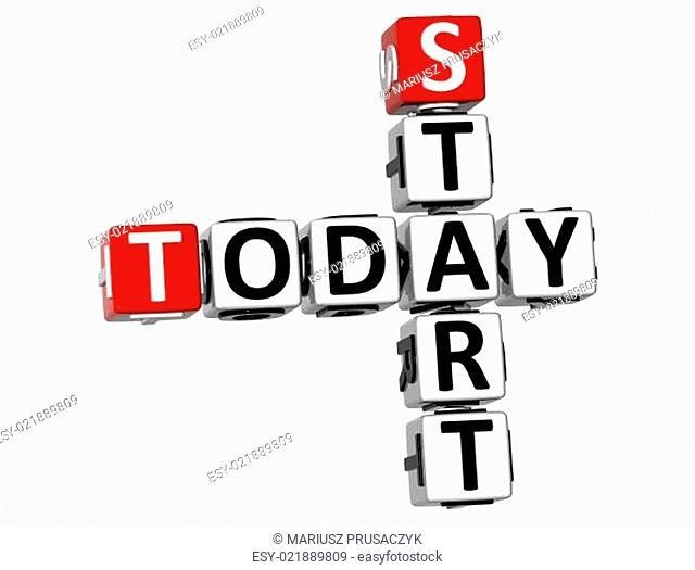 3D Start Today Crossword