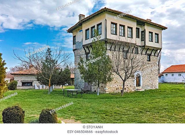 Tower of Angel Voivode and courtyard in Arapovo Monastery of Saint Nedelya, Plovdiv Region, Bulgaria