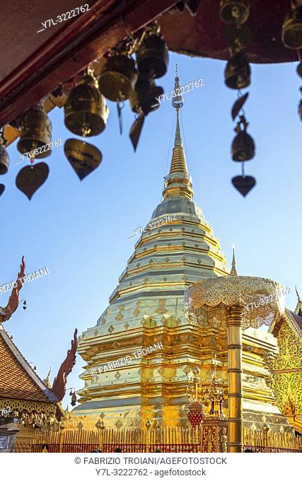Golden chedi at Wat Phra That Doi Suthep, Chiang Mai, Thailand