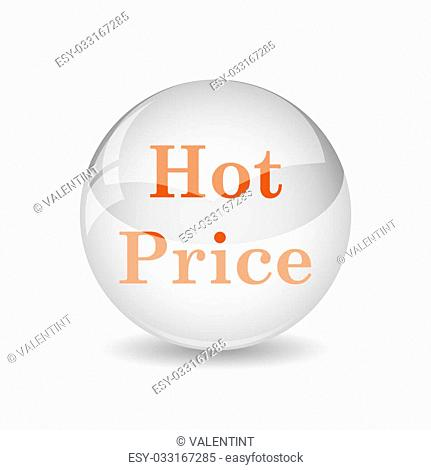 Hot price icon. Internet button on white background
