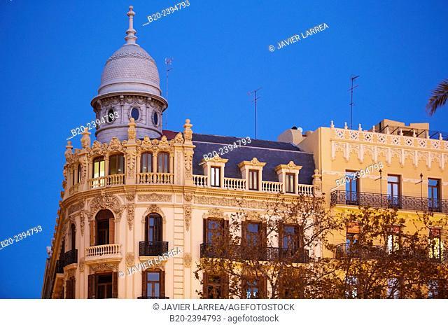 Plaza del Ayuntamiento square. Valencia. Comunidad Valenciana. Spain