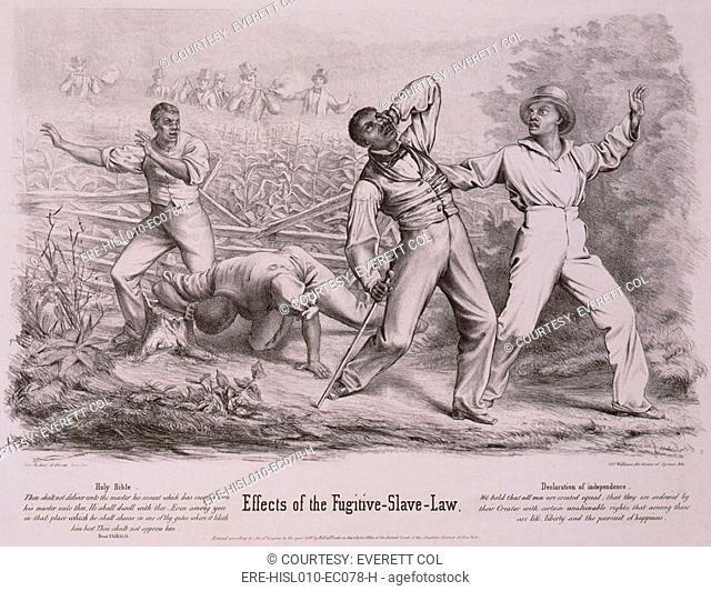 Effects Of The Fugitive Slave Law Four Black Men Possibly Slaves