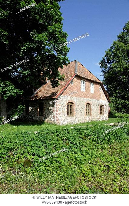 traditional house, museum at Heimtali near Viljandi, Estonia, Baltic Nation, Eastern Europe