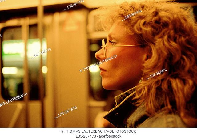 Woman in subway