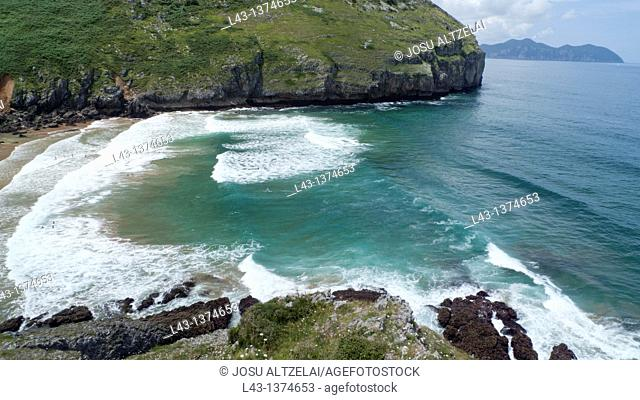 Beach of Sonabia,province of cantabria,spain