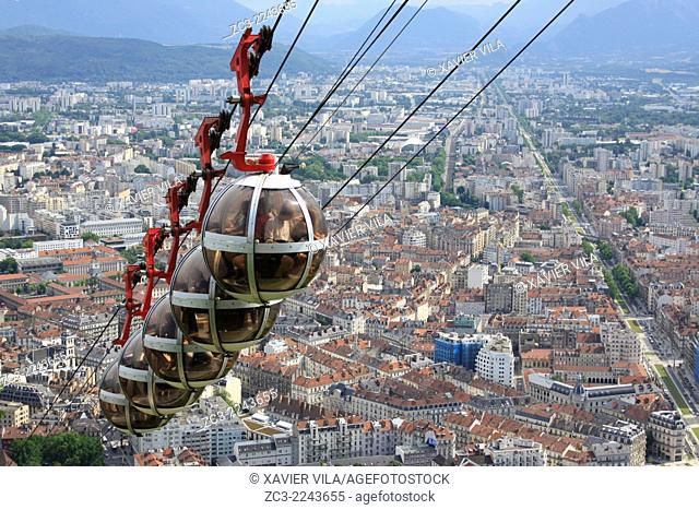 Cable car, Grenoble, Isere, Rhone-Alpes, France