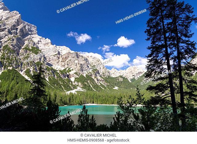 Italy, Trentino Alto Adige, Bolzano province, Dolomites, listed as World Heritage by UNESCO, Fanes Senes Braies natural park