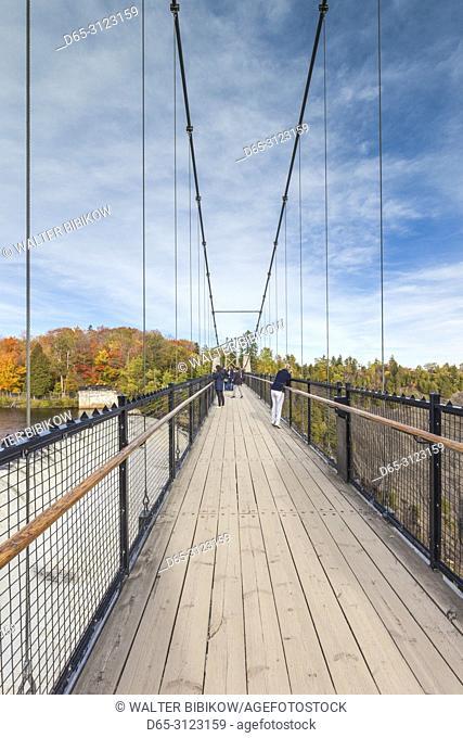 Canada, Quebec, Quebec City, Montmorency, Chutes Montmorency, waterfalls, suspension bridge