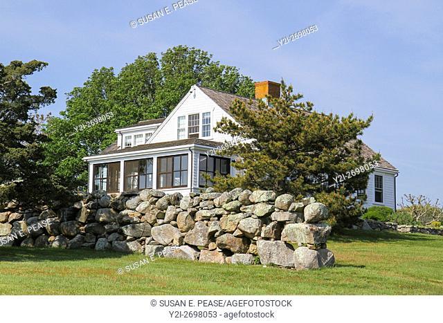 A home in Menemsha, Chilmark, Martha's Vineyard, Massachusetts, United States, North America. Editorial use only
