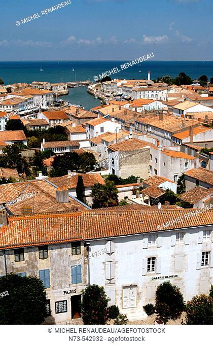 Saint-Martin. Ile de Ré. Charente-Maritime. Poitou Charentes. France