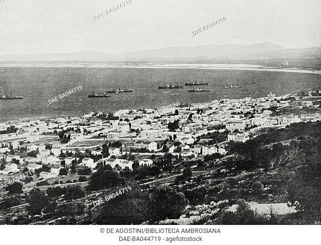View of Trabzon, Turkey, photo by Trampus from L'Illustrazione Italiana, Year XLIII, No 18, April 30, 1916